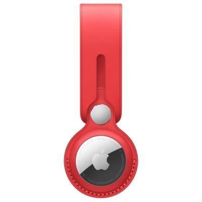 Apple AirTag Leather Loop červené