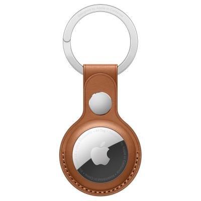 Apple AirTag Leather Key Ring hnědá