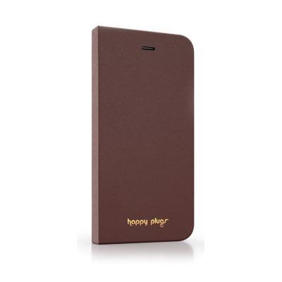 Pouzdro Happy Plugs iPhone 6 Flip hnědé