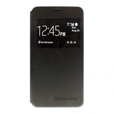POŠKOZENÝ OBAL - iGET Flipové kožené pouzdro pro mobilní telefon BLACKVIEW ETA, černá barva