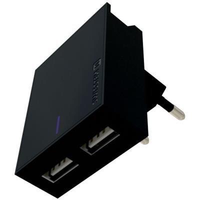 Napájecí adaptér SWISSTEN 2x USB-A 3A černý
