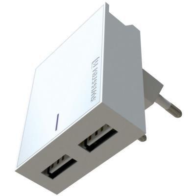 Napájecí adaptér SWISSTEN 2x USB-A 3A bílý