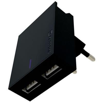 Napájecí adaptér SWISSTEN 2x USB-A + microUSB 3A