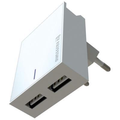 Napájecí adaptér SWISSTEN 2x USB-A + Lightning 3A