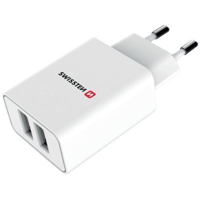 Napájecí adaptér SWISSTEN 2x USB-A + Lightning Mfi