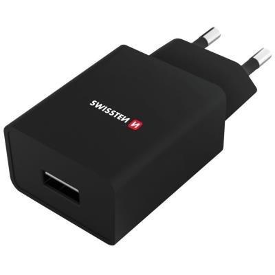 Napájecí adaptér SWISSTEN USB-A + USB-C 1A