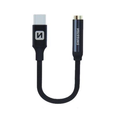 Redukce SWISSTEN USB-C na 3,5mm jack černý