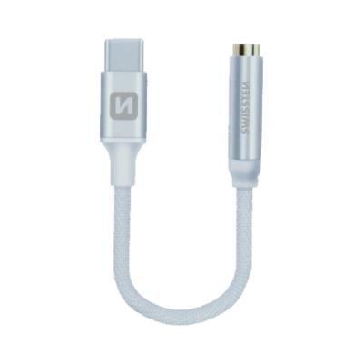 Redukce SWISSTEN USB-C na 3,5mm jack stříbrný