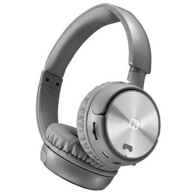 Headset SWISSTEN Trix stříbrno-šedý