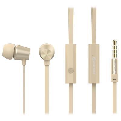 Headset SWISSTEN Earbuds Dynamic YS500 zlatý