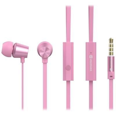 Headset SWISSTEN Earbuds Dynamic YS500 růžový
