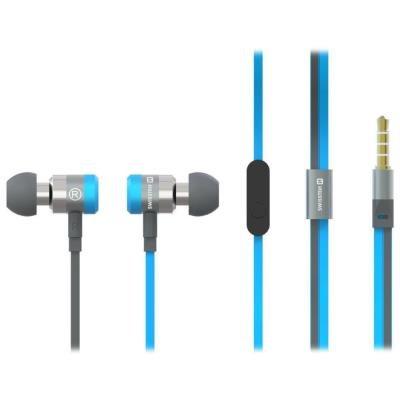 Headset SWISSTEN Earbuds Superbass YS900 modrý
