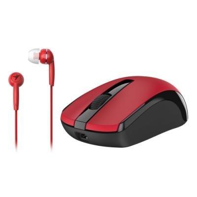 Myš Genius MH-8100 + headset zdarma červená