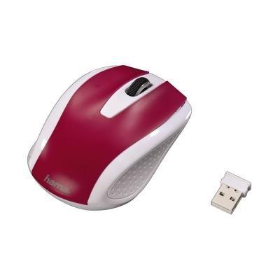Myš Hama AM-7200 bílo-červená