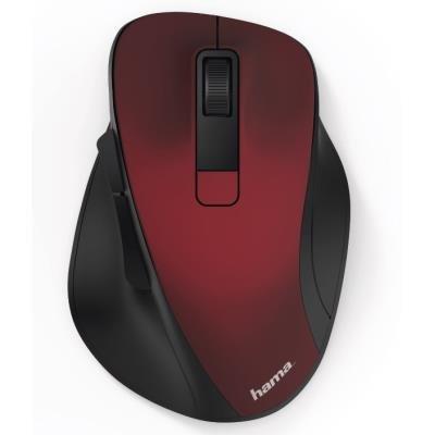 HAMA myš MW-500/ bezdrátová/ optická/ 1600 dpi/ 6 tlačítek/ USB/ červená
