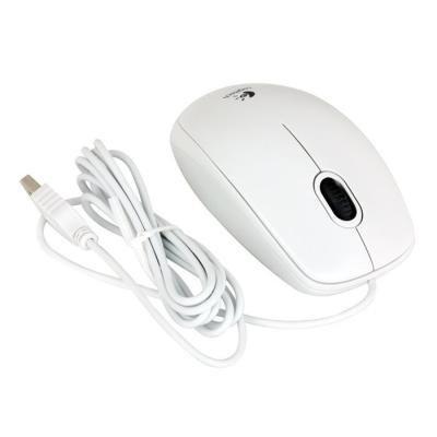 Logitech myš B100/ Drátová/ Optická/ 800dpi/ USB/ bílá