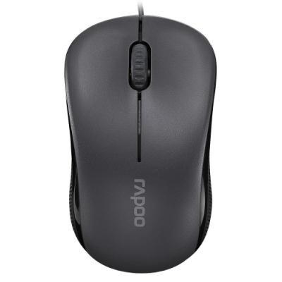 RAPOO N1130 Black/ 1000 dpi/ drátová/ černá