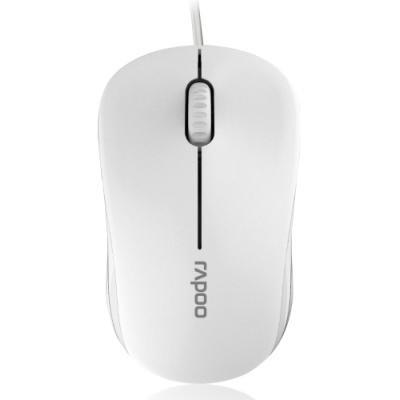 RAPOO N1130 White/ 1000 dpi/ drátová/ bílá