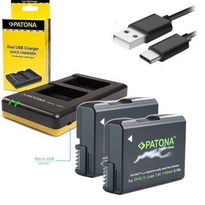 Nabíječka PATONA pro 2 baterie Nikon EN-EL14