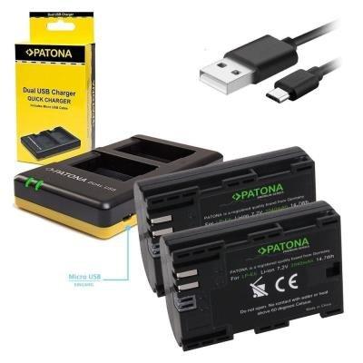 Nabíječka PATONA pro 2 baterie Canon LP-E6