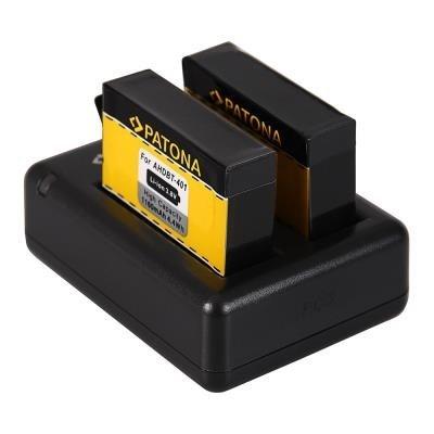 Nabíječka PATONA pro 2 baterie GoPro AHDBT-401