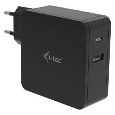 i-tec univerzální USB-C (3.1) nabíječka 60W + USB-A Port 12W/ černá