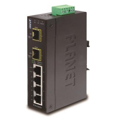 OPRAVENÉ - PLANET IGS-620TF Průmyslový Switch 4x 10/100/1000T, 2x 100/1000X SFP, -40~+75°C