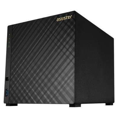 "Asustor NAS AS3204T v2 / 4x 3,5"" SATA III/ Intel Celeron 1.6GHz/ 2GB/ 2x GbE/ 3x USB 3.1/ HDMI + IR"