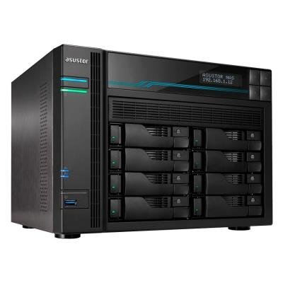"Asustor NAS AS6508T / 8x 2,5""/3,5"" SATA III, 2x M.2/ Intel ATOM C3538 2.1 GHz/ 8GB/ 2x 10 GbE + 2x 2.5 GbE/ 2x USB 3.2"