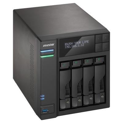 "Asustor NAS AS7004T / 4x 2,5""/3,5"" SATA III/ Intel i3 3,5 GHz/ 2 GB/ 2x GbE/ 3x USB 3.0/ 2x USB 2.0/ eSATA"