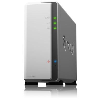 Synology DS119j   1-Bay, SATA,Marvell Arma 800MHz, 256MB DDR3, GbE LAN, 2x USB