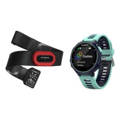 GARMIN GPS sportovní hodinky Forerunner 735XT Run 2 Bundle modrá
