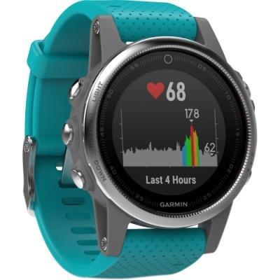 Sportovní hodinky Garmin fenix5S stříbrno - modré