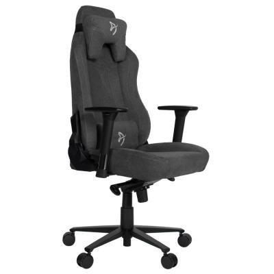 AROZZI herní židle VERNAZZA Soft Fabric Dark Grey/ povrch Elastron/ tmavošedá
