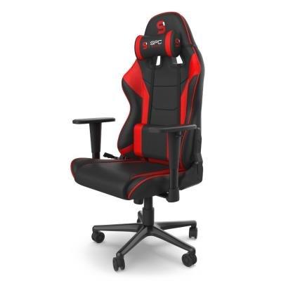 Herní židle SPC Gear SR300F V2 červeno-černá
