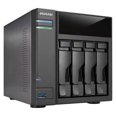 Asustor AS-304T, 4-bay NAS server/ media station/ Dual Core Atom 1,6GHz/ 1GB DDR3/ 2xUSB 3.0/ 2xUSB 2.0/ HDMI výstup/