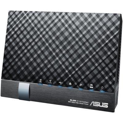 ASUS router DSL-AC56U/802.11a/b/g/n/ac/2.4Ghz/5GHz/VDSL2/ADSL2+/ADSL2/ADSL/WAN 10/100/1000 /4xLAN 10/100/1000/1x xDSL