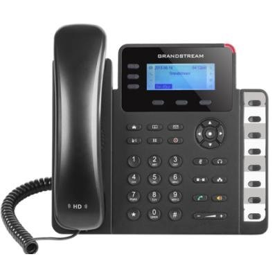 Grandstream GXP1628 VoIP telefon - 2x SIP účet, HD audio, 3 prog.tl.+8 předvoleb, switch 2xLAN 1000Mbps, PoE