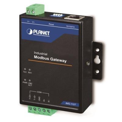 Planet IMG-110T, MODBUS průmyslová brána RS-422/485 na IP,1x terminal, 100Base-TX, RTU/ACSII