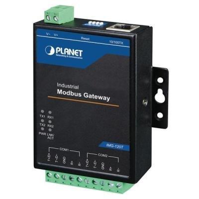 Planet IMG-120T, MODBUS průmyslová brána 2x RS-422/485 na IP, 100Base-TX, RTU/ACSII