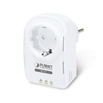 Planet PL-751 500Mbps, PowerLine (direct attached), HomePlug AV, 1x LAN, QoS, průchozí CEE 7/4