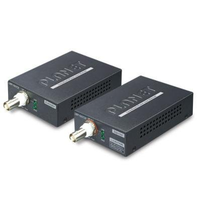 Planet LRP-101C-KIT, COAX PoE extender 10/100Base-TX, IEEE802.3at-30W,EFT+ESD, dosah 1km, -20 až 70°C