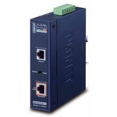 Planet IPOE-171-95W PoE injektor IEEE802.3bt, 95W, Gigabit, DIN, IP30, -40~75°C