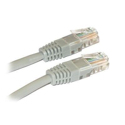 Patch kabel XtendLan Cat 5e UTP 0,5m šedý