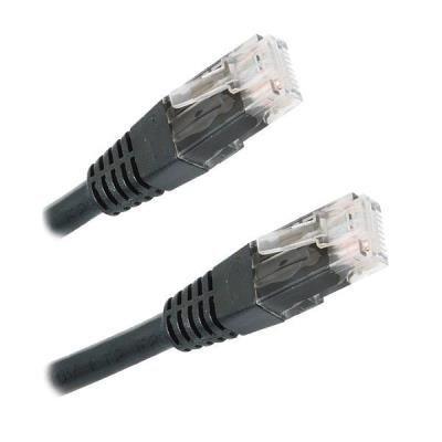 Patch kabel XtendLan Cat 6 UTP 1m černý