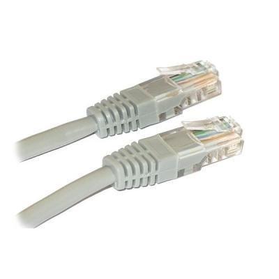 Patch kabel XtendLan Cat 6 UTP 1m šedý
