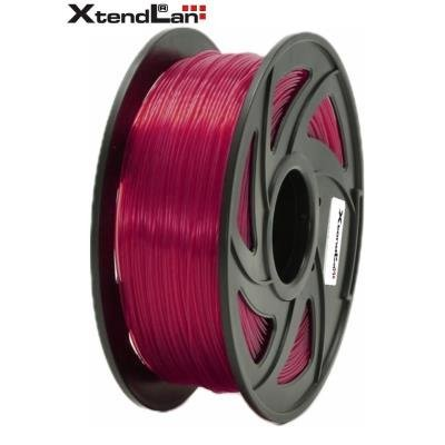 XtendLan filament PETG průhledný červený