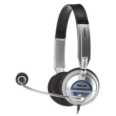 Headset NGS MSX6 PRO stříbrný