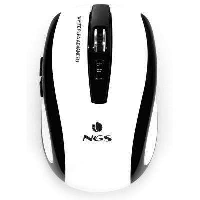 NGS myš FLEAADVANCEDWHITE/ Bezdrátová/ Bílá/ USB