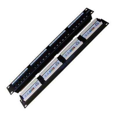 "Patch panel DATACOM 19"" UTP 24 portů cat.5e DUAL"